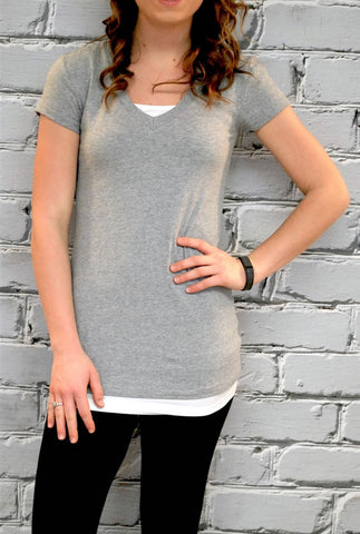 Extra Long High Quality V-neck Tee - S-XL