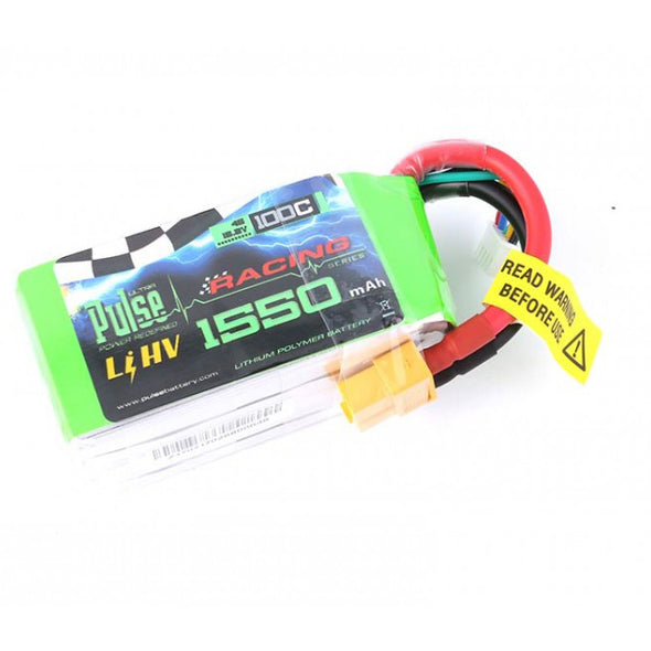 PULSE 1550mAh 4S 15.2V 100C - FPV Racing / Extreme Series - HV LiPo Battery - Blackstar Drones