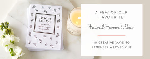 A Few Of Our Favourite Funeral Favour Ideas
