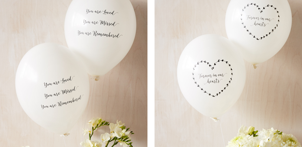 Balloon Funeral Favours