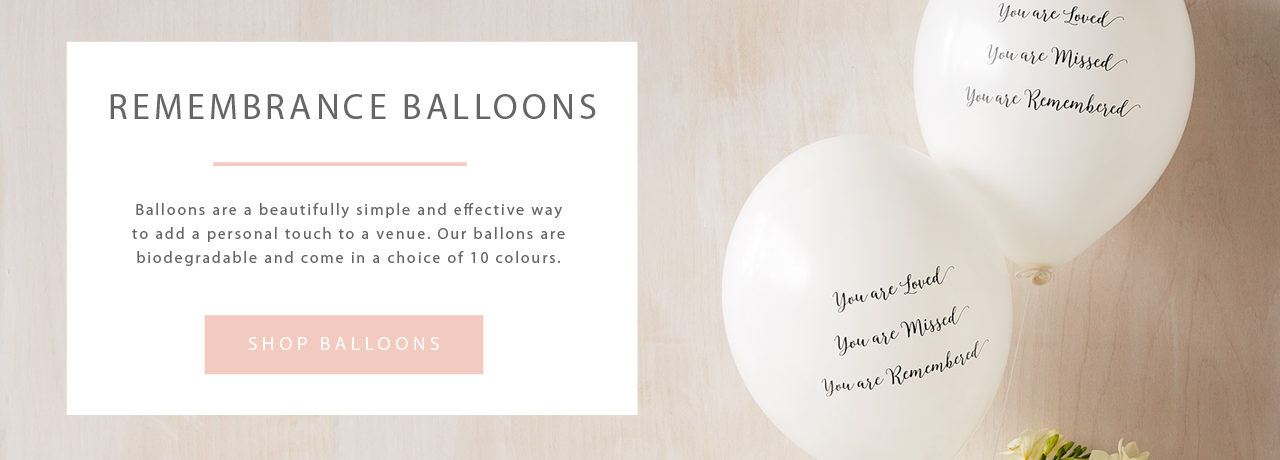 Funeral Remembrance Balloons