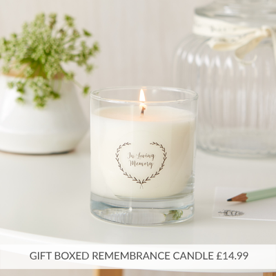 Funeral Remembrance Candle Gift Boxed