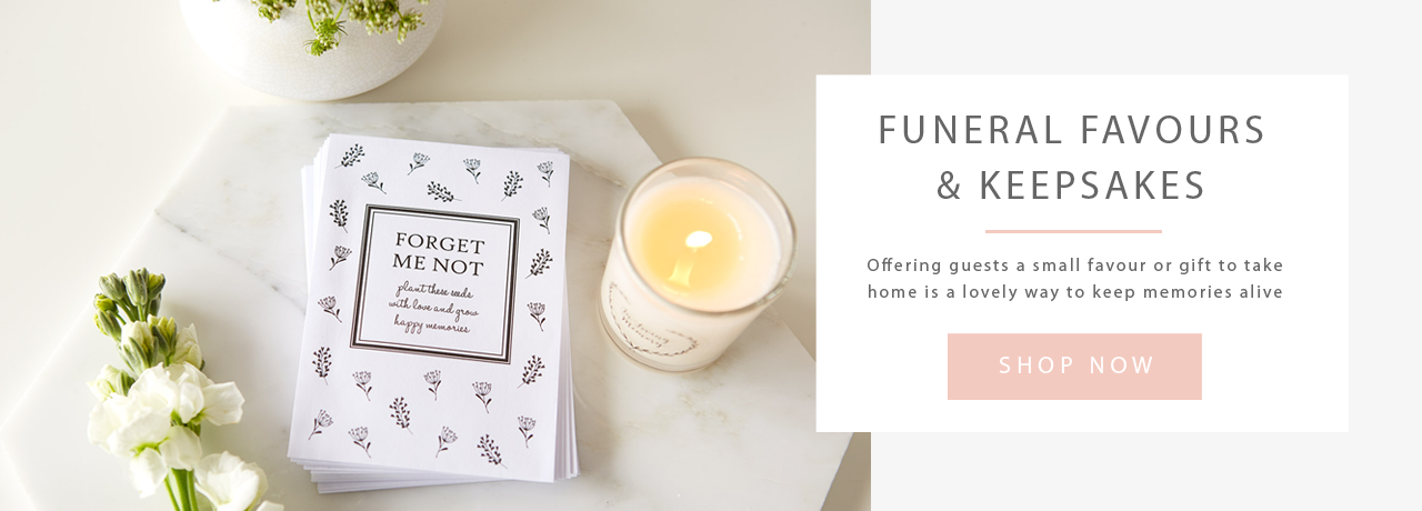 Funeral Favours by Angel & Dove