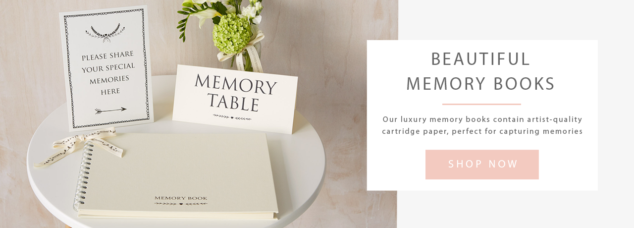 Funeral Memory Condolence Book by Angel & Dove