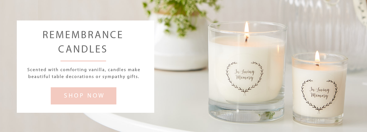 In Loving Memory Funeral Remembrance Candles by Angel & Dove
