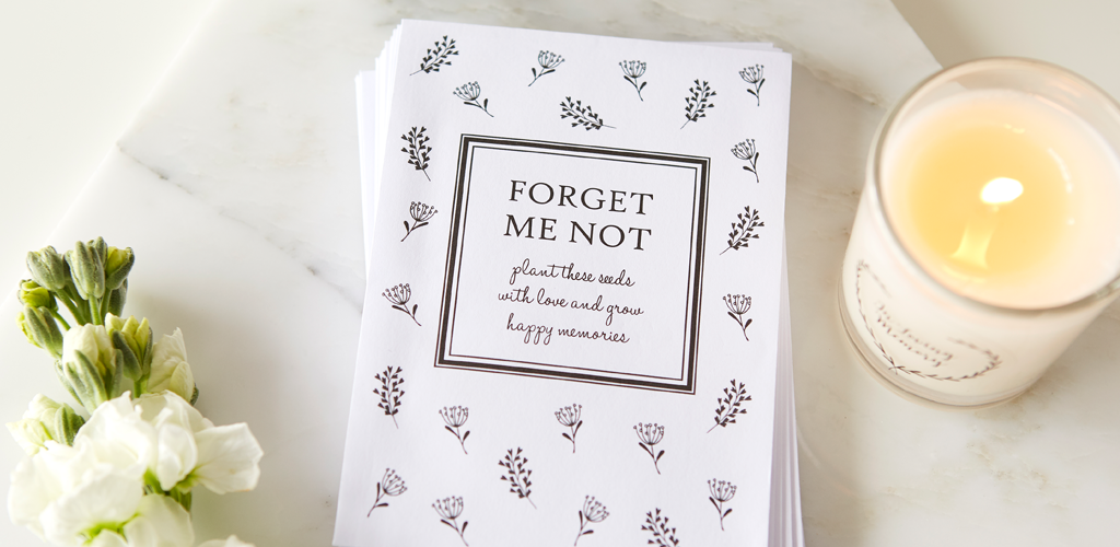 Forget Me Not Seed Funeral Favours