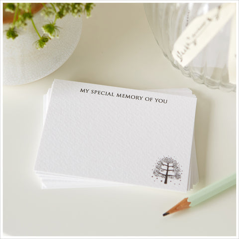 25 'My Special Memory of You' Luxury Funeral Remembrance Cards - Angel & Dove