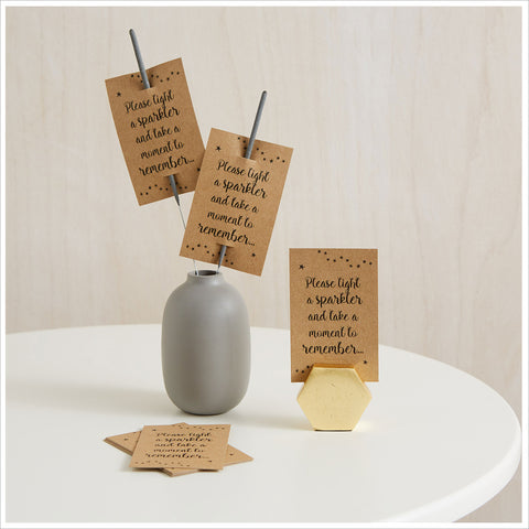 25 Kraft Remembrance Sparkler Favour Cards (Sparklers not included) - Angel & Dove