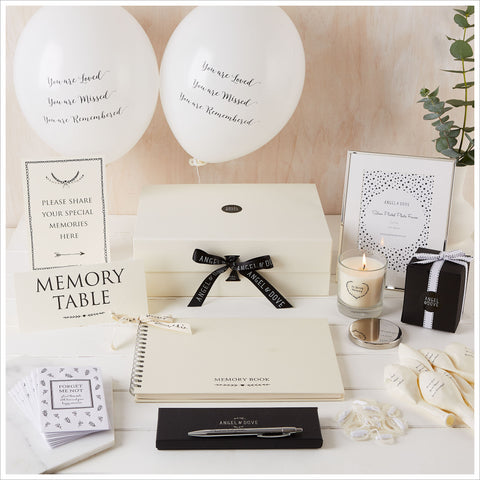 Large 'Funeral In a Box' Collection for up to 30 Guests - Angel & Dove