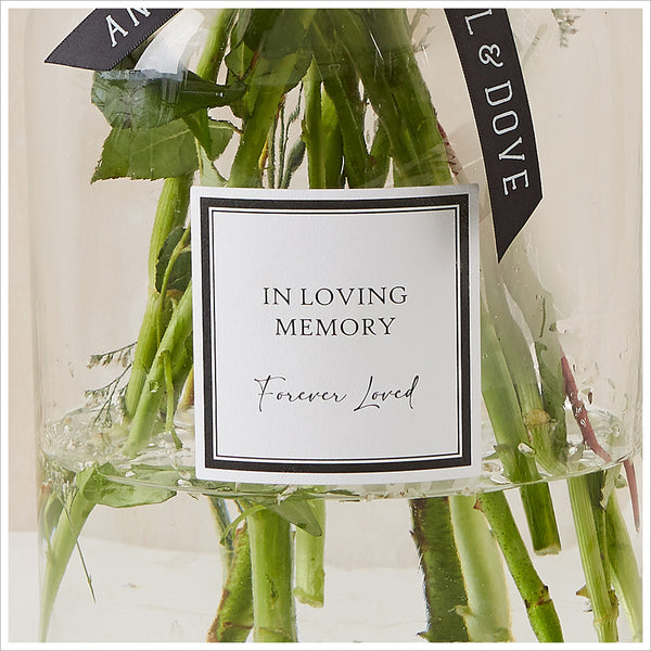 Large 'In Loving Memory' 30cm Glass Vase for Memory Table - Angel & Dove