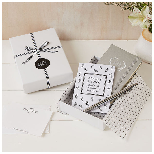 'Little Book of Memories' Sympathy Gift with Luxury Gift Box & Bag - Angel & Dove