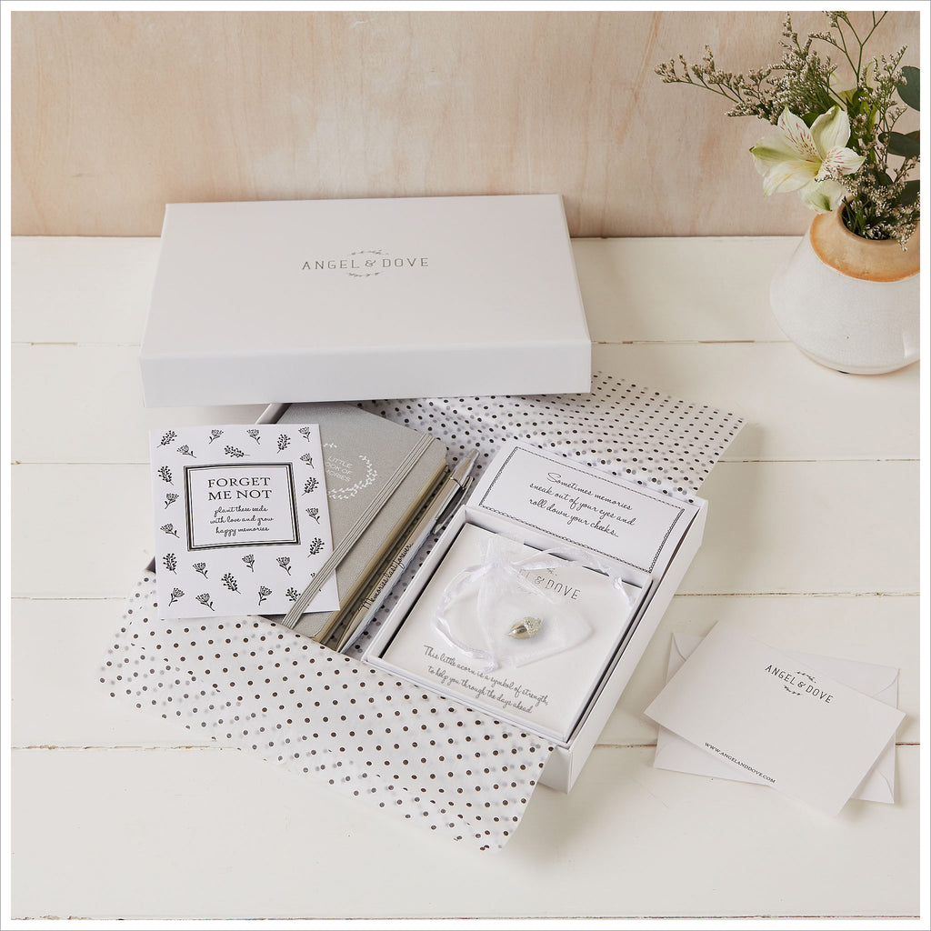 'Little Box of Strength' (Acorn) Sympathy Gift with Luxury Gift Box & Card - Angel & Dove