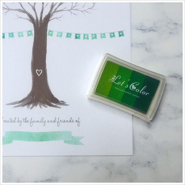 Fingerprint Remembrance Tree Print Kit - A Creative Alternative to a Condolence Book - Angel & Dove