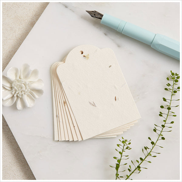 10 Plantable Wildflower Seed Paper Message Tags - Angel & Dove