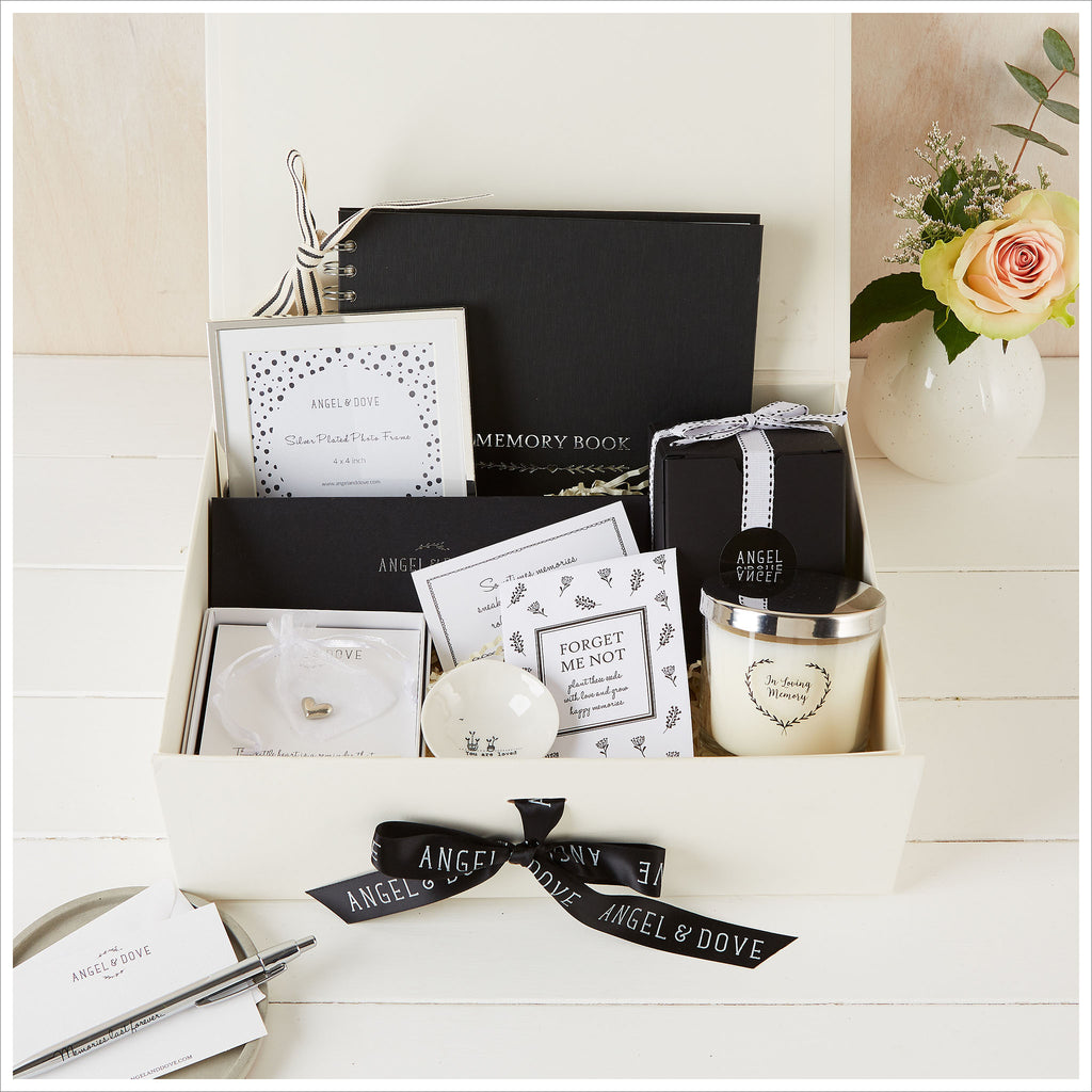 'Sending Love' Large Sympathy Gift Hamper in Luxury Gift Box - Angel & Dove