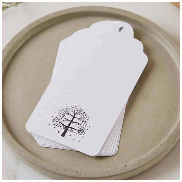25 White Memory Tree Message Tags - Create Your Own Memory Tree - Angel & Dove