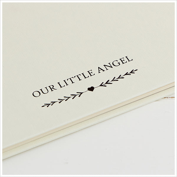 'Our Little Angel' Memory Book, Baby Loss Keepsake Book - Angel & Dove