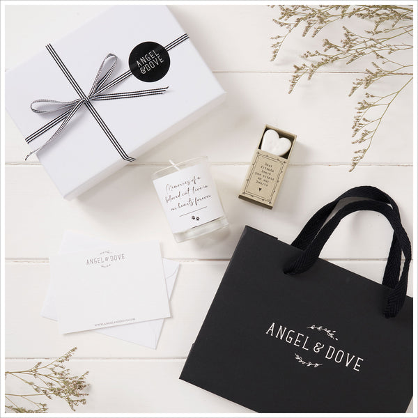 Memories of a Beloved Cat Sympathy Gift with Luxury Gift Bag & Card - Angel & Dove