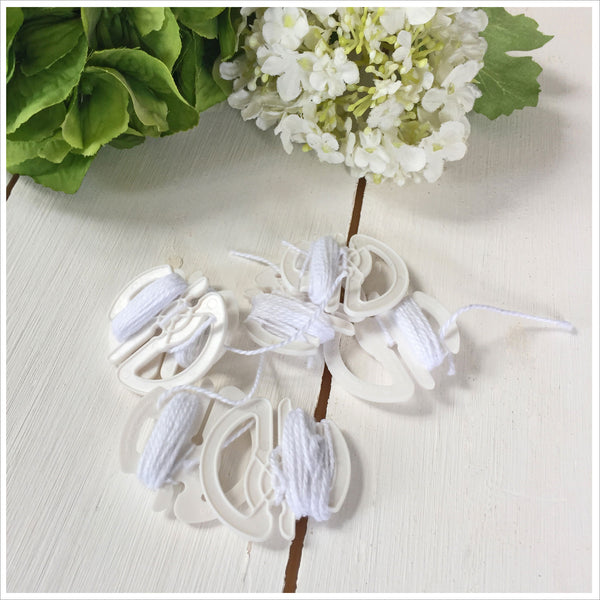 25 Compostable Balloon Seals With String - Angel & Dove