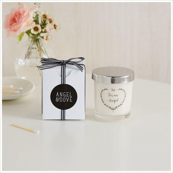 'For An Angel' Votive Remembrance Candle with Gift Bag & Card - A Thoughtful Gift for Miscarriage or Baby Loss - Angel & Dove