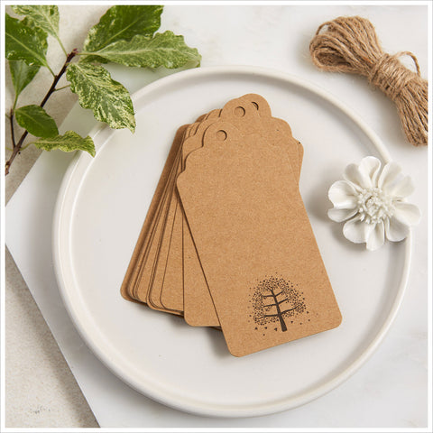 25 Kraft Memory Tree Message Tags - Create Your Own Memory Tree - Angel & Dove