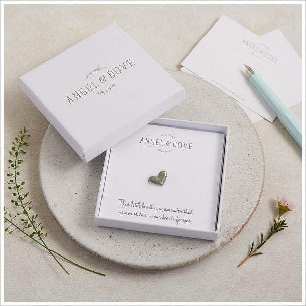 'Little Box of Memories' (Heart) Sympathy Gift with Luxury Gift Box & Card - Angel & Dove