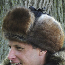 Load image into Gallery viewer, Mountie Style Muskrat with Black Melton