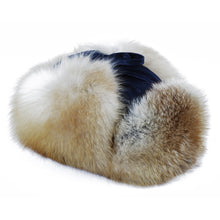 Load image into Gallery viewer, Red Fox Leather/Fur Aviator Hat