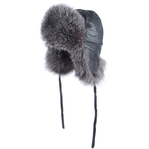 Silver Fox Aviator Hat