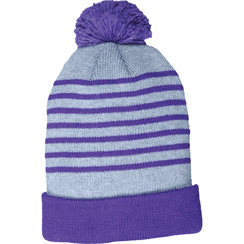 Girl's Hot Paws Stripe Droop Beanie