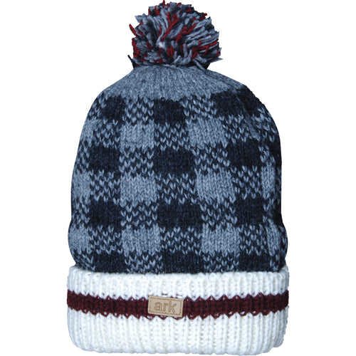 Ark Imports Checker Pom Pom Toque