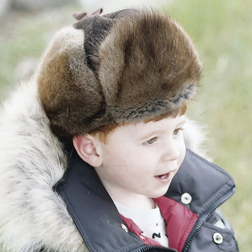 Children's Melton Muskrat Fur Mountie
