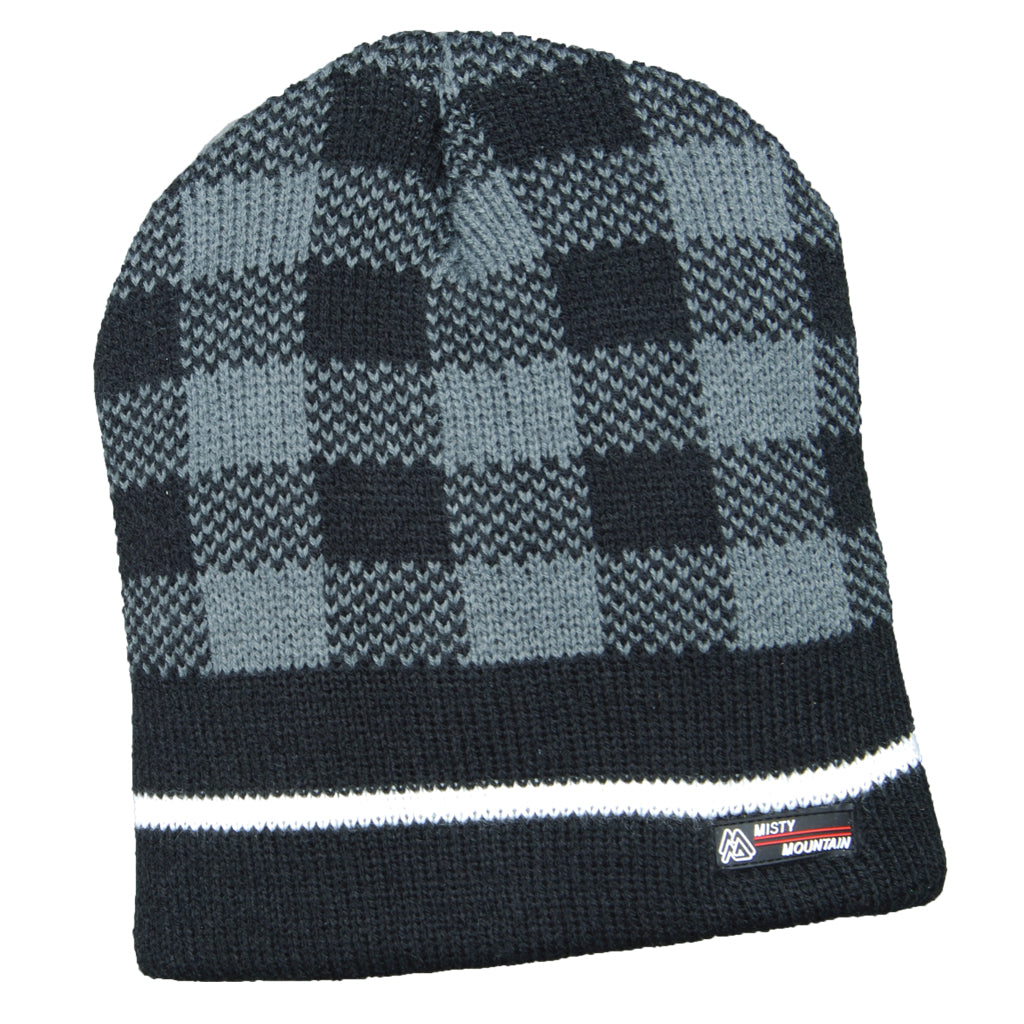 Misty Mountain 4-Layer Check Beanie