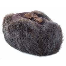 Load image into Gallery viewer, Mountie Style Beaver Fur Hat