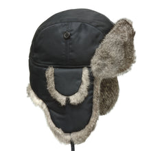 Load image into Gallery viewer, Taslan Rabbit Fur Aviator hat