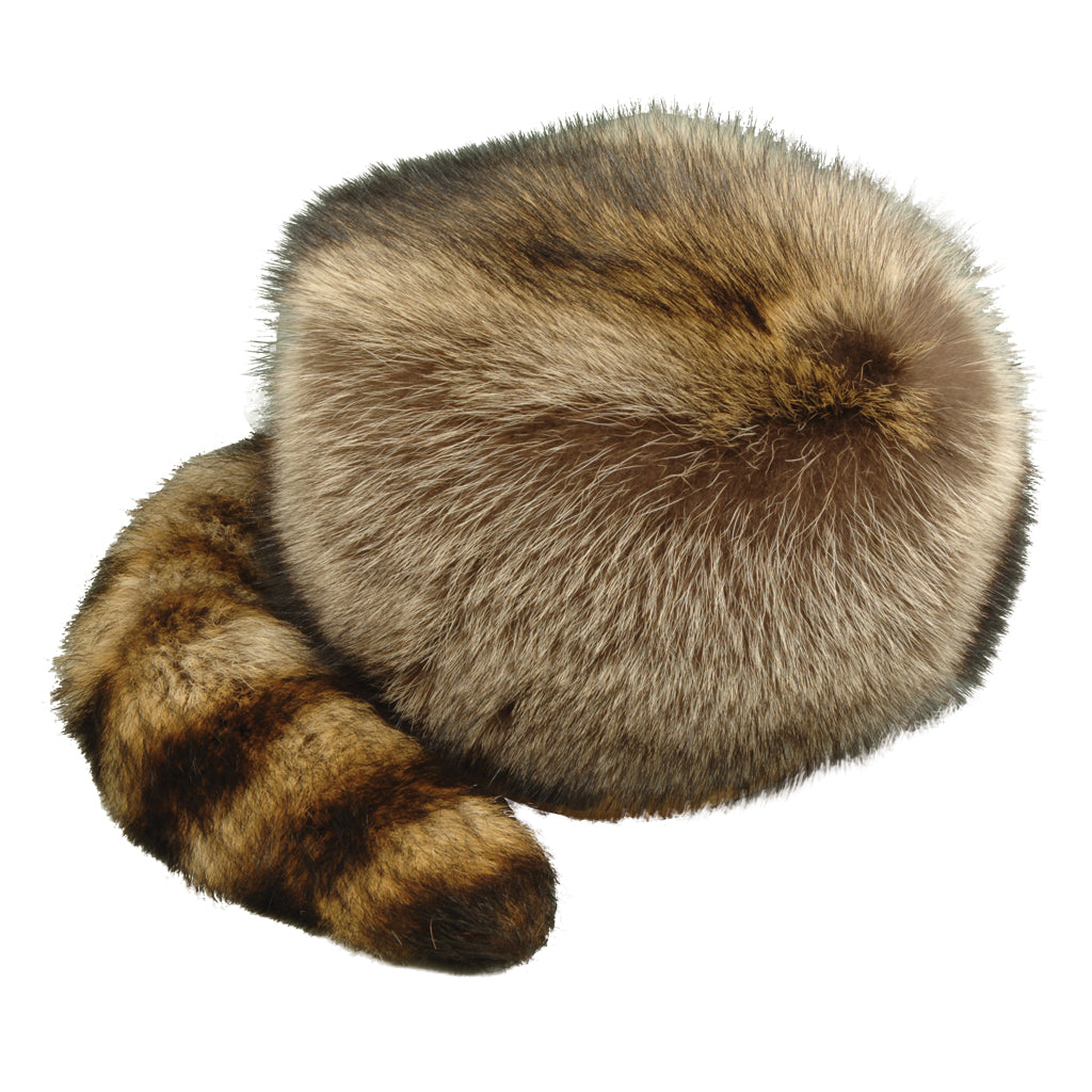 Raccoon Davy Crockett Tail Hat