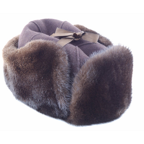 a9c4eab6018 Otter Mountie Style Fur Hat