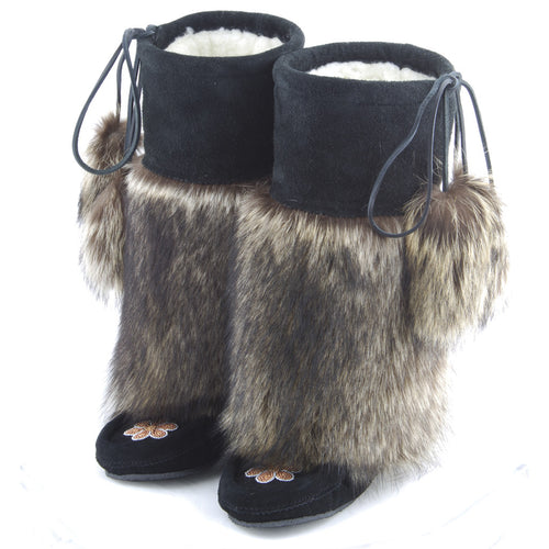 Custom Handmade Natural Raccoon Mukluks