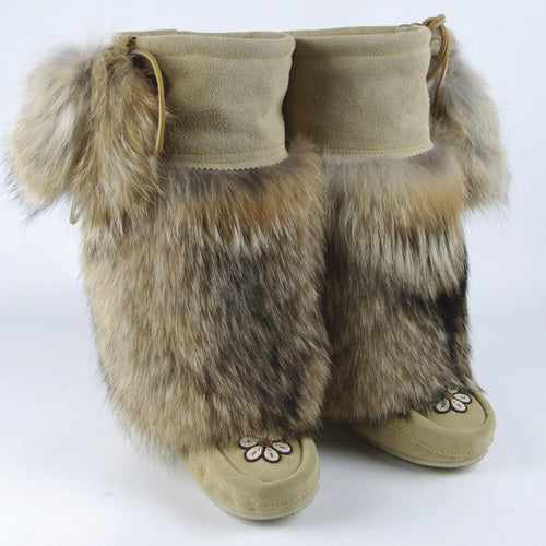 Custom Handmade Natural Coyote Mukluks