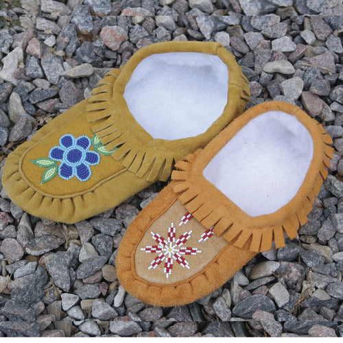 Handmade Moccasins With No Fur