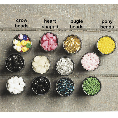 Plastic Crow Beads - Package of 100