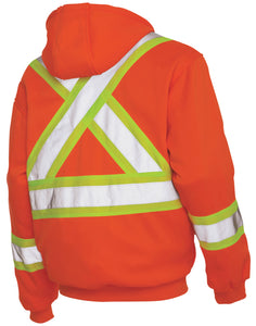 Men's Work King Hi-Visibility Zip Front Hoody