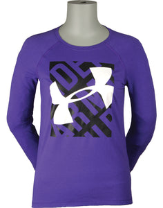 Girl's Under Armour Blocked Logo L/S Top