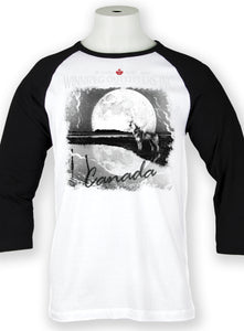 Midnight Moon Howl Baseball Tee