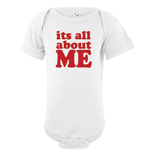 Infant Printed It's All About Me Onesie