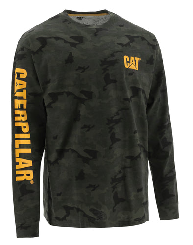Men's Cat Trademark Banner L/S Tee