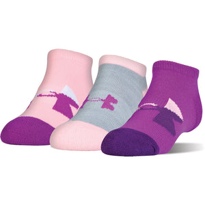 Youth Under Armour Next Statement 3PK No Show Socks