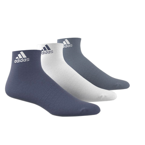 81f5a5b0919f2 Youth Adidas 3 Pack Ankle Socks