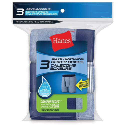Boy's Hanes 3Pk Boxer Brief