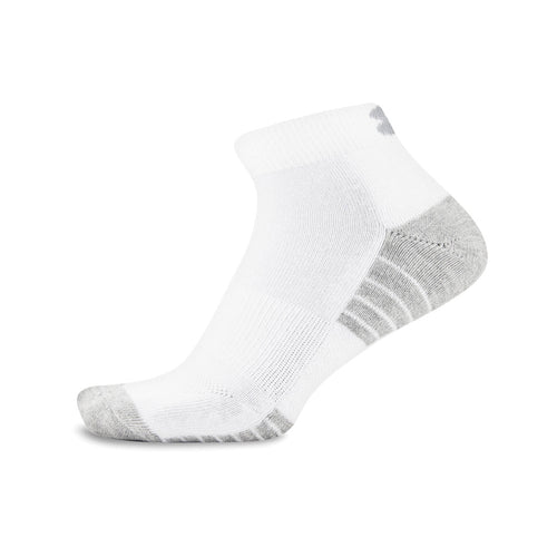 Adult UA 3Pk  HeatGear Lo Cut Socks